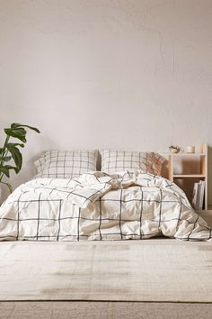 Wonky Grid Duvet Cover - Urban Outfitters #ModernBedSheets