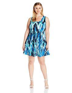 Karen Kane Women's Plus-Size Fit-and-Flare Dress - http://darrenblogs.com/2016/05/karen-kane-womens-plus-size-fit-and-flare-dress/