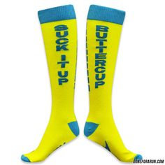 Suck it up Buttercup. Go Run in these bright and stylish knee high running socks from goneforarun.com