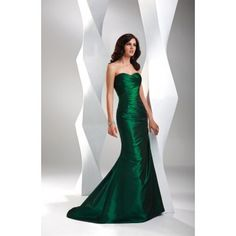 Strapless Long Green Mermaid Prom Dress Under 200 Dallors