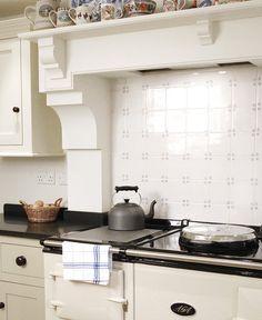 Over Mantel: Bespoke Kitchens - The Classic English Kitchen - deVOL Kitchens Kitchen Mantle, Aga Kitchen, Shaker Kitchen, Open Plan Kitchen, Kitchen Tiles, Rustic Kitchen, Country Kitchen, Kitchen Layout, Devol Kitchens