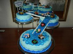 Water Slide Tiered Birthday Cake