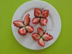 Strawberry Butterflies