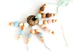 Nursing necklace with coconut ring pendant  100 by kangarusha, $17.00