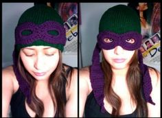 This is for you, Toni Hunt!  TNMNT Beanie with mask. Awesome!