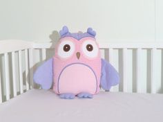 Designer Owl  Pillow  Baby Monogram Pillow  by Customquiltsbyeva