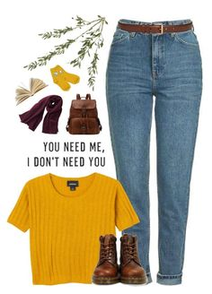 """""""she speaks like the rain, but she howls at the moon"""" by silvanacavero ❤ liked on Polyvore featuring Topshop, Bellamie, Monki, Maison Boinet, Dr. Martens, Uniqlo and Chicnova Fashion"""