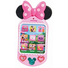Buy Minnie Bow-Tique - Why Hello Cell Phone at Mighty Ape NZ. Disney: Minnie Bow-Tique – Why Hello Cell Phone Minnie Mouse is always on the go, and with her Why Hello! Play Cell Phone, she can talk to you anywhe. Little Girl Toys, Baby Girl Toys, Cool Toys For Girls, Girls Toys, Lol Dolls, Barbie Dolls, Minnie Mouse Toys, All Toys, Toys Uk