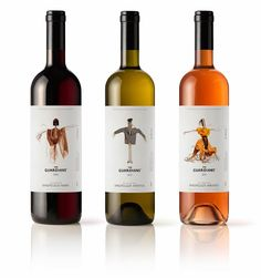 THE GUARDIANS* Wine Packaging Greek agency Mousegraphics was commissioned to create a unique packaging for a new line of wines called: THE GUARDIANS*. Check out more of the wine packaging design. Wine Bottle Design, Wine Label Design, Wine Bottle Labels, Wine Bottles, Beverage Packaging, Bottle Packaging, Design Da Garrafa, Packaging Inspiration, In Vino Veritas