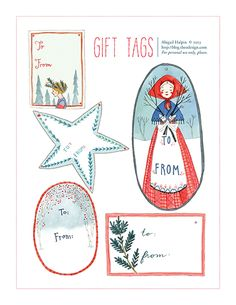 Abigail Halpin: To + From - Gift Tag Printable