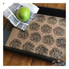 When is wrapping paper MORE than just wrapping paper? Our hand screen printed paper can be cut to size line the inside of your serving tray for a new look!  Check out our newest stockist @youravenuec to grab a roll (or two) of our Seed Pod design - printed in black or white (link in profile) #sarahb #blockprinted #printmaker #shopsmall #shoplocal . . . . . #farmhousestyle #rusticdecor #cromptonstyle #where_boston #bostonhandmade #rusticwedding #vintagestyle #bitsofvintage #farmhousedecor…