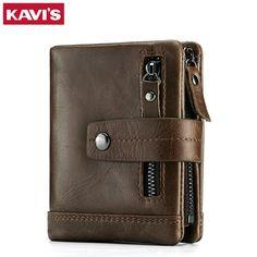 Кавис натуральная кожа бумажник мужчины портфель мужчина Малый portomonee Валле с портмоне карманы Тонкий RFID модное мини-Валет