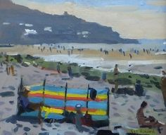 The windbreak, Sennen - Ken Howard RA, NEAC - Island Fine Arts