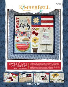 """""""Sweet Land of Liberty"""" Wall Hanging - 4th of July - Summer Quilt   YouCanMakeThis.com"""