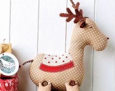 Although not as well known as his cousin Rudolph, Roger is a friendly reindeer with a spotty coat and that same recognisable red nose. He would be a lovely gift for a child or simply something cute to sit on the sofa this Christmas. Button joint legs add character, along with sweet felt ears and antlers. What are you waiting for?