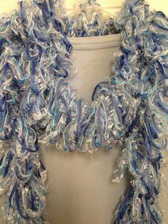 Hairpin Lace Scarf by TravelinStitches on Etsy, $20.00...Ice blue so perfect for right now!!! It even has a touch of sparkle.