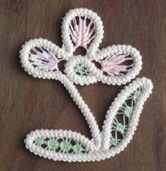 Romanian Point Lace flower