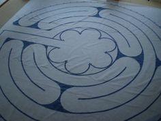 Labirinto Chartres tecido - Arte Bernardo  http://labirintobr.wordpress.com/