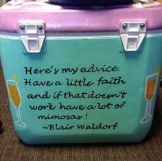 Blair Waldorf sorority cooler @Laurel Anne