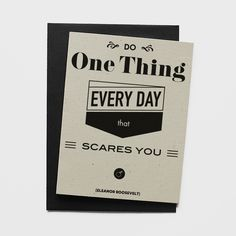 Shops, Roosevelt, Greeting Cards, Typography, Quote, Day, Black, Letterpress, Quotation