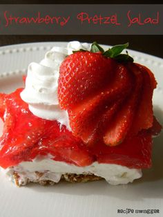 Recipe Swagger: Strawberry Pretzel Salad - (Could also add sm. can drained crushed pineapple.)