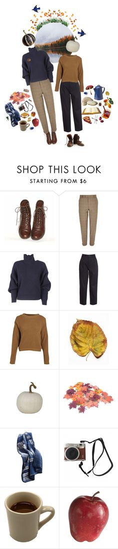 """""""Goodbye Autumn"""" by silentmoonchild ❤ liked on Polyvore featuring River Island, Balenciaga, RED Valentino, Boohoo, Off-White, Eddie Bauer, Fuji and Pier 1 Imports"""