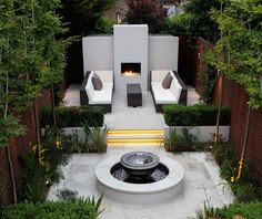 Urban Garden Design Modern Patio Cool Backyard Ideas - Discover unique personal terraces with the top 70 best modern patio ideas. Explore contemporary outdoor designs and backyard extension inspiration. Small Backyard Landscaping, Modern Landscaping, Small Patio, Landscaping Ideas, Landscaping Software, Small Terrace, Landscaping Plants, Design Tropical, Terrasse Design