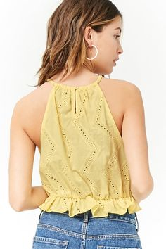 Forever 21 is the authority on fashion & the go-to retailer for the latest trends, must-have styles & the hottest deals. Shop dresses, tops, tees, leggings & more. Eyelet Top, Model Outfits, Crop Top Outfits, Everyday Dresses, Shop Forever, Summer Collection, Latest Trends, Camisole Top, Crop Tops