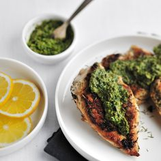 Sauteed Chicken Breasts with Salsa Verde