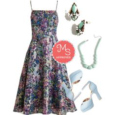 In this outfit: Midnight of My Life Dress, Enamored by Glamour Earrings, Bright and Baubly Necklace, Beloved at First Sight Heel #floral #dresses #specialoccasion #fancy #heels #pastel #outfits #ModCloth #ModStylist #fashion