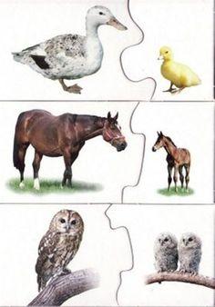 4 komplekta - Aleiga V. Animal Activities For Kids, Abc Activities, Preschool Worksheets, Kindergarten Activities, Teaching Kids, Kids Learning, Shapes For Kids, Animal Puzzle, Montessori Materials