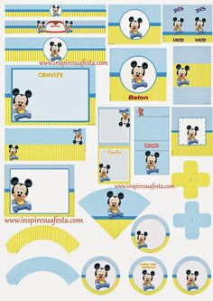 Mickey Baby Free Printable Kit.                              …