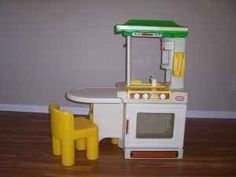 Little Tikes Party Kitchen, where my sister and I used to constantly pretend we had a last-minute dinner to cook for a huge party.