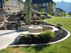 Play rocks and natural gas fire pits