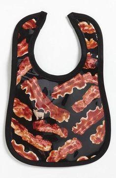 Ha! Bacon bib for baby.