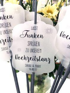 Hochzeitskerzen & Beleuchtung - 10 Wunderkerzen für den Hochzeitstanz - ein Designerstück von FlitterBOOK bei DaWanda