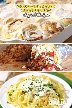 Top 20 Restaurant Copycat Recipes #copycat