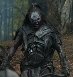"The Uruk-hai are a race of ""super Orc"" from the Lord of the Rings universe. Description from giantbomb.com. I searched for this on bing.com/images"