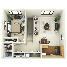 Studio Apartments Layout 20ftx24ft cabin or studio apartment layout | compact living spaces