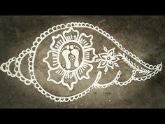 Sankha Jhoti chita for Laxmi Puja/ sudasha brata Jhoti chita Rangoli Side Designs, Rangoli Designs Latest, Simple Rangoli Designs Images, Free Hand Rangoli Design, Small Rangoli Design, Rangoli Ideas, Rangoli Designs Diwali, Rangoli Designs With Dots, Beautiful Rangoli Designs