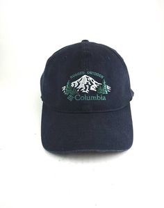 7d357db5ffe61 Columbia Rugged Outdoor Flexback Hat    Embroidered Mountains Dad Hat  Baseball Cap