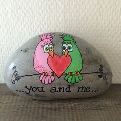 You and Me Painted Rock