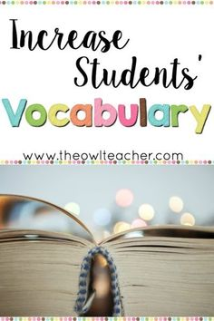 Teach Your Child to Read - Check out these ideas on how to increase your students vocabulary. This post also includes a freebie! - Give Your Child a Head Start, and.Pave the Way for a Bright, Successful Future. Increase Vocabulary, Vocabulary Instruction, Academic Vocabulary, Teaching Vocabulary, Vocabulary Activities, Teaching Writing, Teaching Resources, Teaching Ideas, Vocabulary Strategies