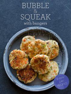 """""""bubble-squeak"""" - English winter veg """"pancakes"""" (originally designed to use up leftover roasted veggies and mashed potatoes)"""