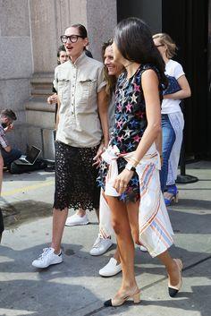 Jenna Lyons Photos Photos: Seen Around Spring 2016 New York Fashion Week: The…
