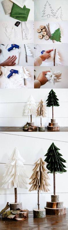Decoración de navidad con fieltro - littlehouseoffour.com - #decoracion #homedecor #muebles