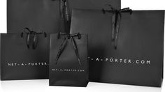 Factory Outlet OEM Black Gift Paper Bag with Silk Ribbon Handle pictures & photos Black Packaging, Luxury Packaging, Packaging Design, Gift Packaging, Fashion Packaging, Fashion Branding, Shoping Bag, Black Gift Bags, Black Bags