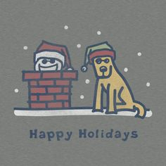 Men's Holiday Chimney Long Sleeve Crusher Tee | Life is good