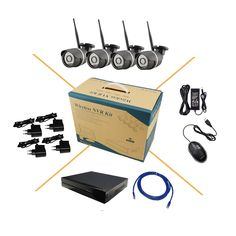 223.39$  Buy here - http://alibg6.worldwells.pw/go.php?t=32568775678 - 4CH wireless wifi HD 1.3MP 960P IP Network Camera Security System Kit Onvif 8CH NVR P2P