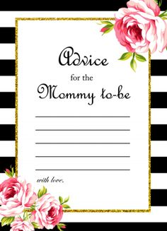 free advice for the mommy to be card